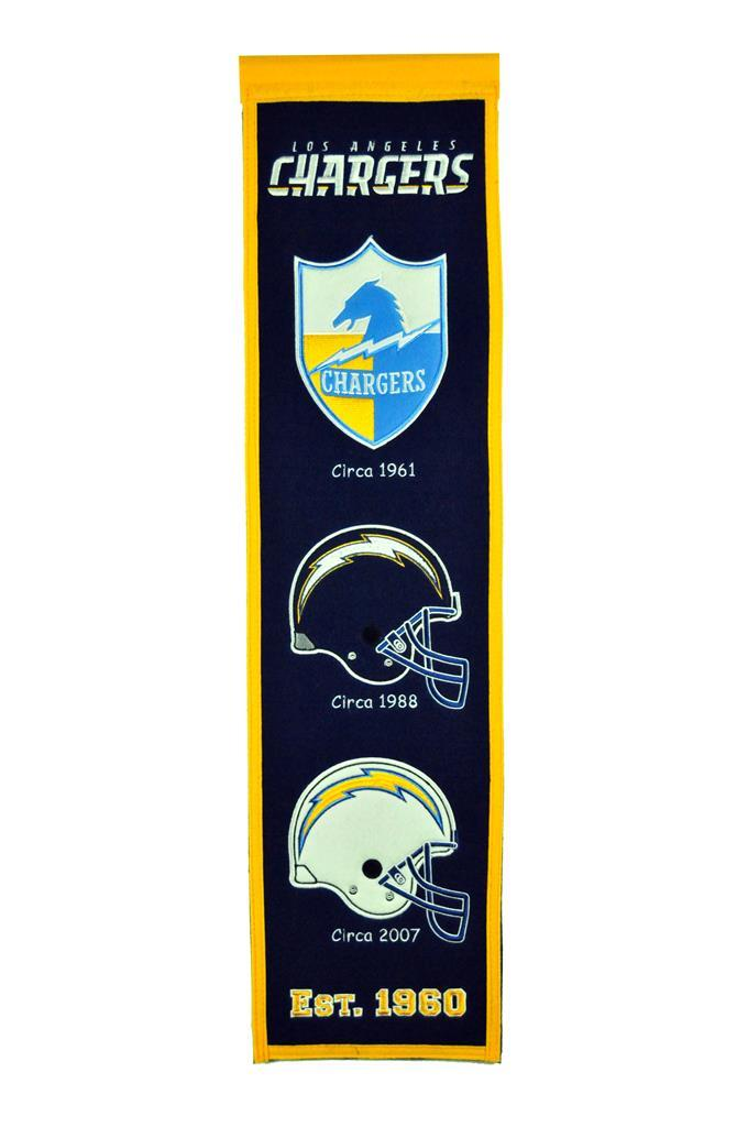 Los Angeles Chargers Heritage Banner Los Angeles Chargers Chargers Los Angeles