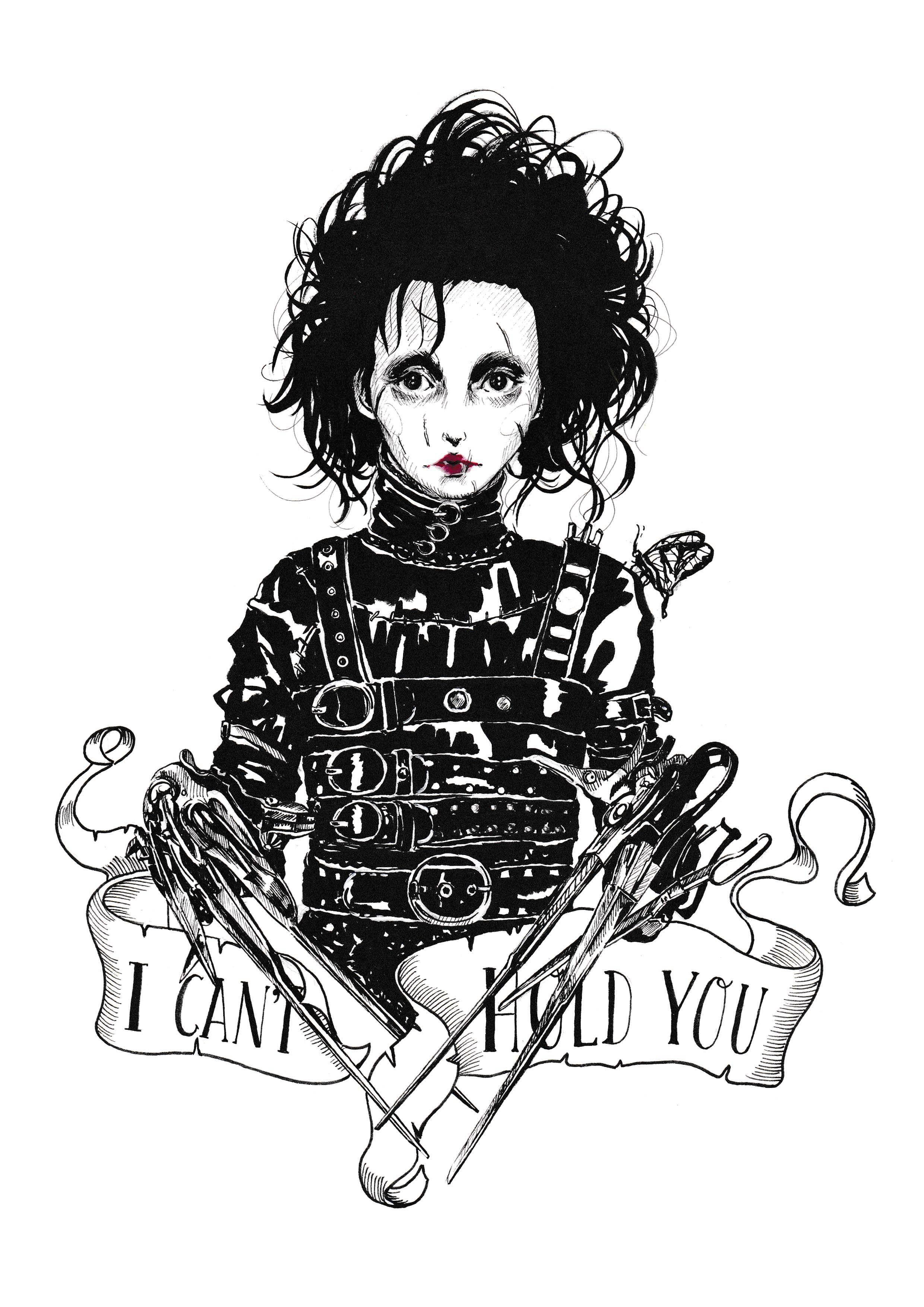 Inktober 23 Edward Scissorhands Gothic Drawings Beautiful Dark
