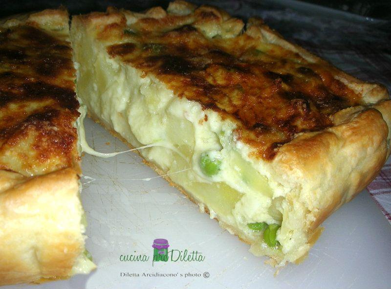 Ricetta torta salata con broccoli e patate