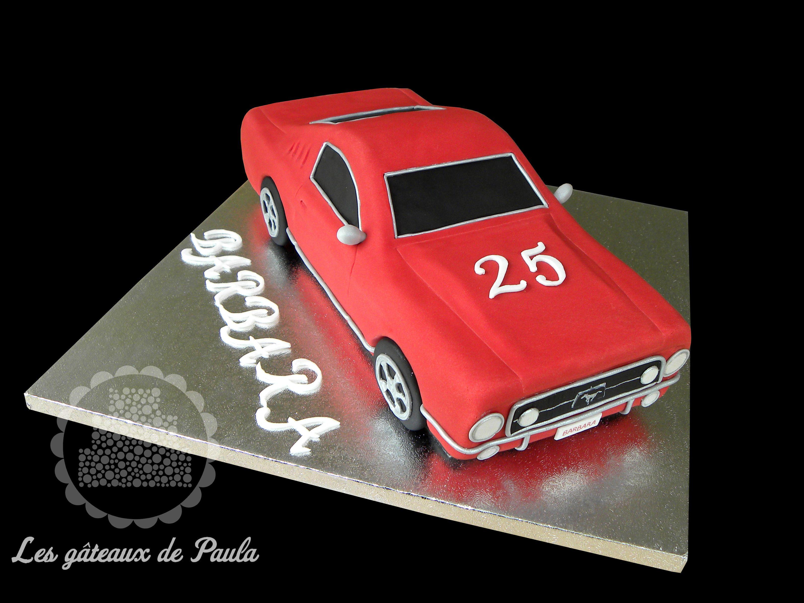 Car cake - Ford Mustang 16  Boy birthday cake, Car cake, Ford