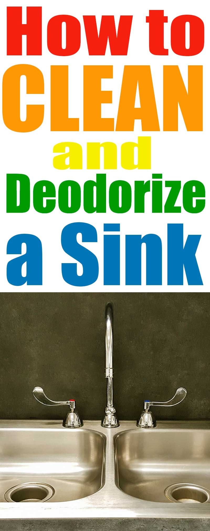 How to Clean a Stainless Steel Sink | Sink, Sink drain ...
