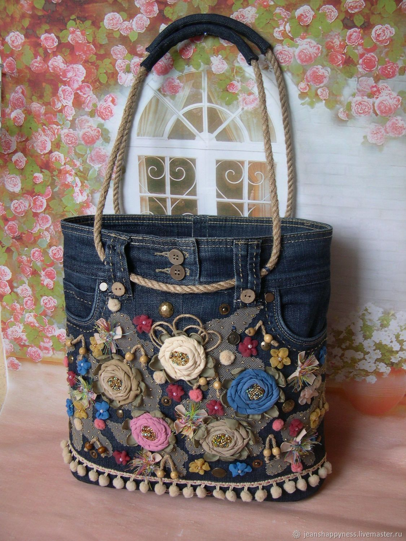 8dafe33e4f23 Женские сумки ручной работы. Ярмарка Мастеров - ручная работа. Купить  Джинсовая сумка