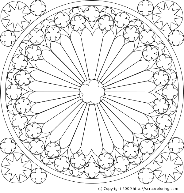 Rose Window Coloring Page The Hunchback Of Notre Dame Pinterest