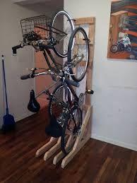 diy free standing bike rack
