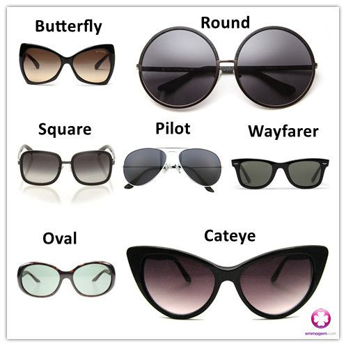 types of sunglasses | ACCESSORIES | Pinterest