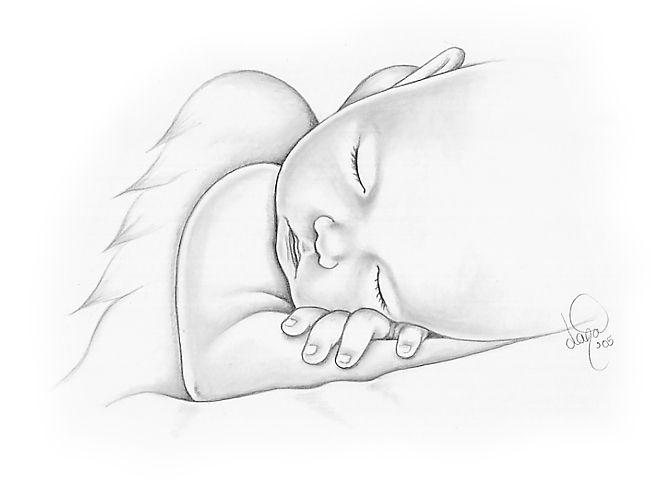 Картинки младенца для срисовки, днем рождения дочурки