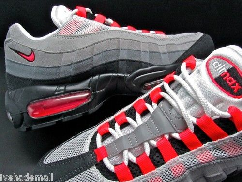 d77edd29559 Nike Air Max 95 Grey Solar Red Infrared 609048-106 Sweet!