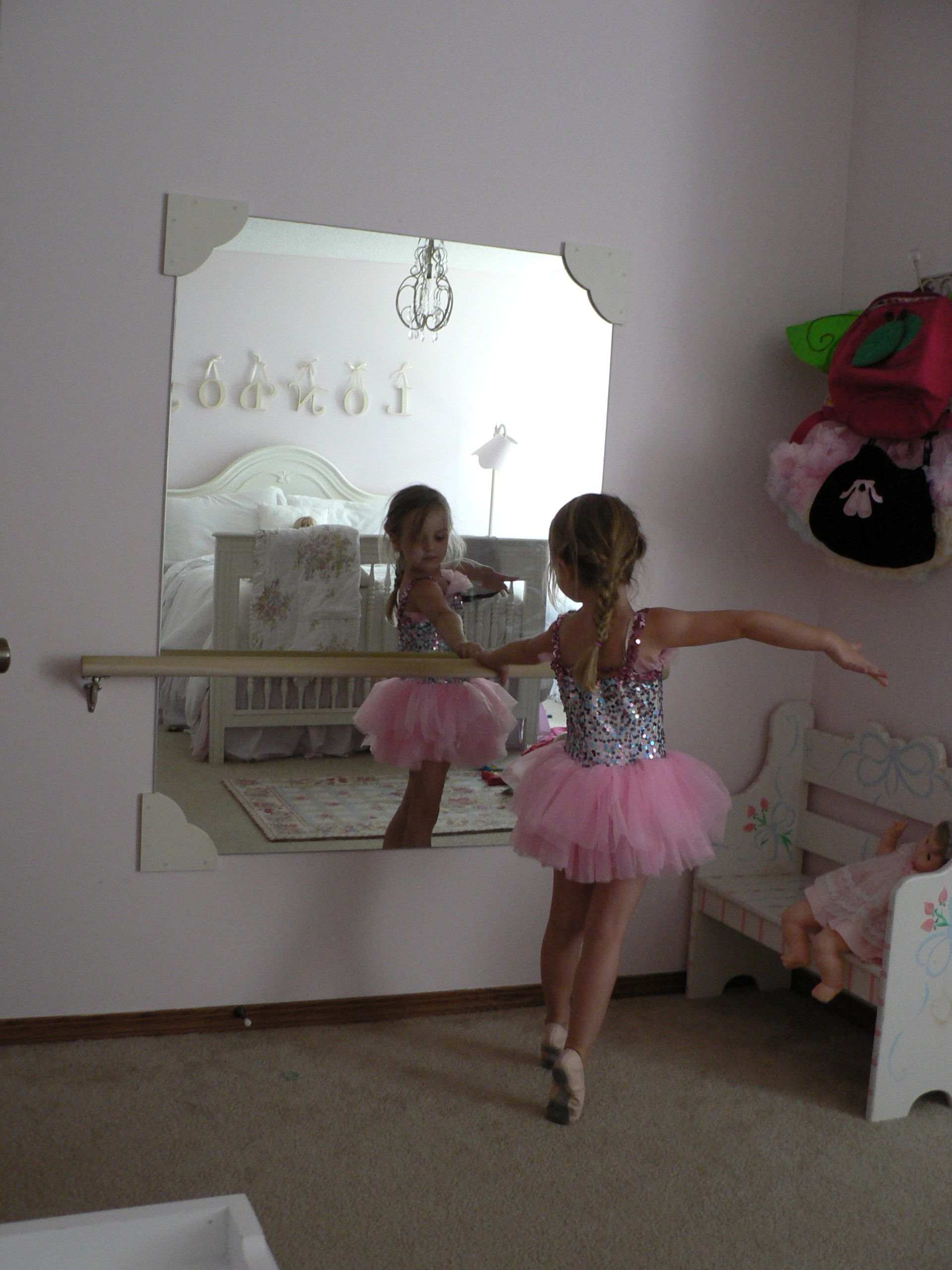 This would be cool in a little girl's room (or a playroom) Ballet bar