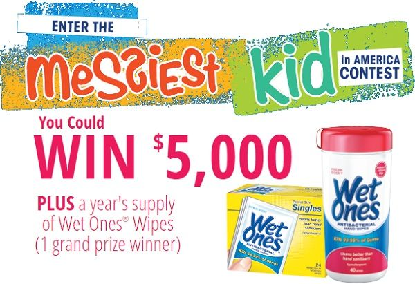 Win 5 000 Plus A Year S Supply Of Wet Ones Wipes Contests