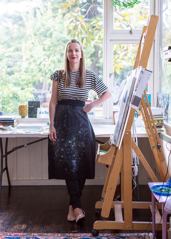 The home studio of Melbourne artist Sally Ross. Photo by Sean Fennessy. Production by Lucy Feagins for thedesignfiles.net