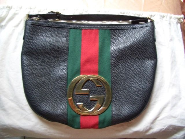 {SOLD} http://www.bonanza.com/listings/HTF-Authentic-Gucci-Black-Leather-Blondie-Signature-Stripe-Hobo-Bag-RP-1650-/103719187