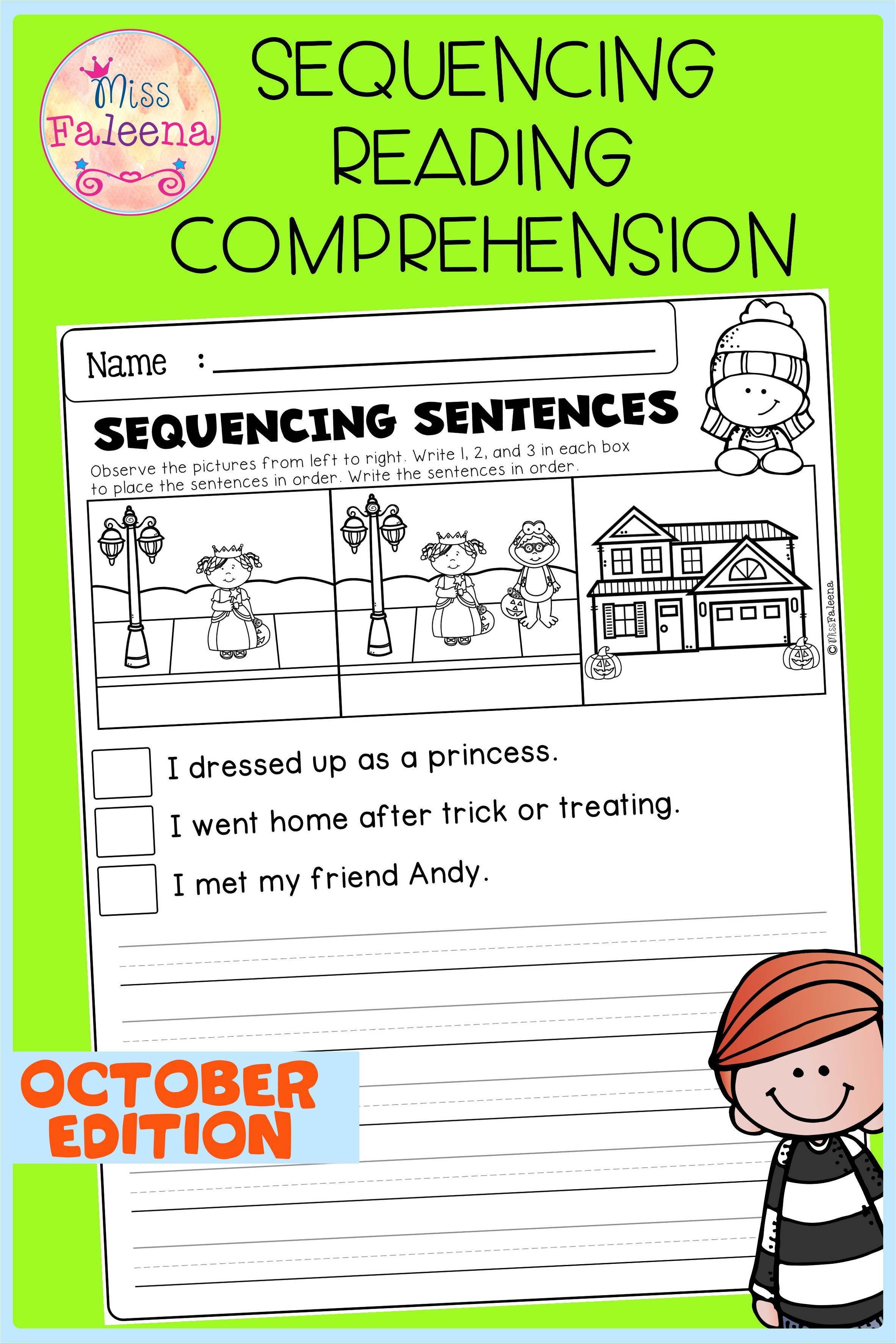 October Sequencing Reading Comprehension Di