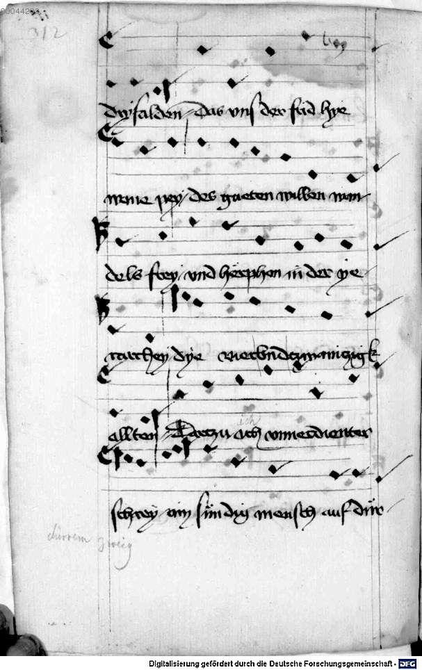 Mönch von Salzburg. Oswald von Wolkenstein: Geistliche Lieder mit Melodien Bayern/Österreich, erste Hälfte 15. Jh.: 3. Viertel 15. Jh. Cgm 715 Folio 328