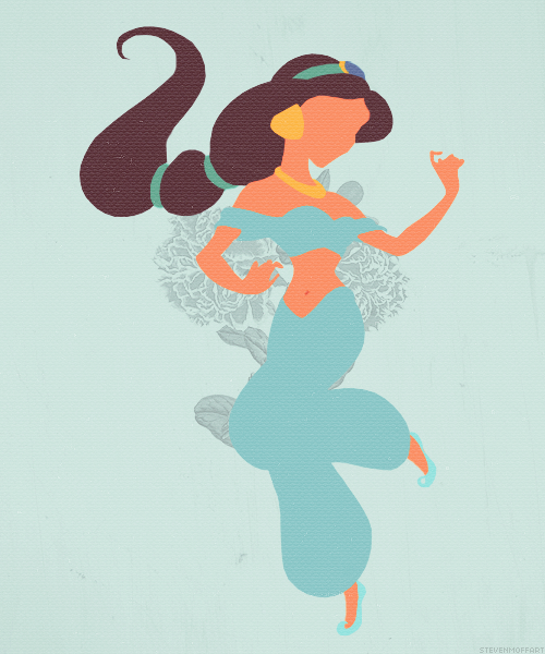 Jasmine aladdin 1992 disney pinterest jasmine for Aladdin and jasmine on carpet silhouette