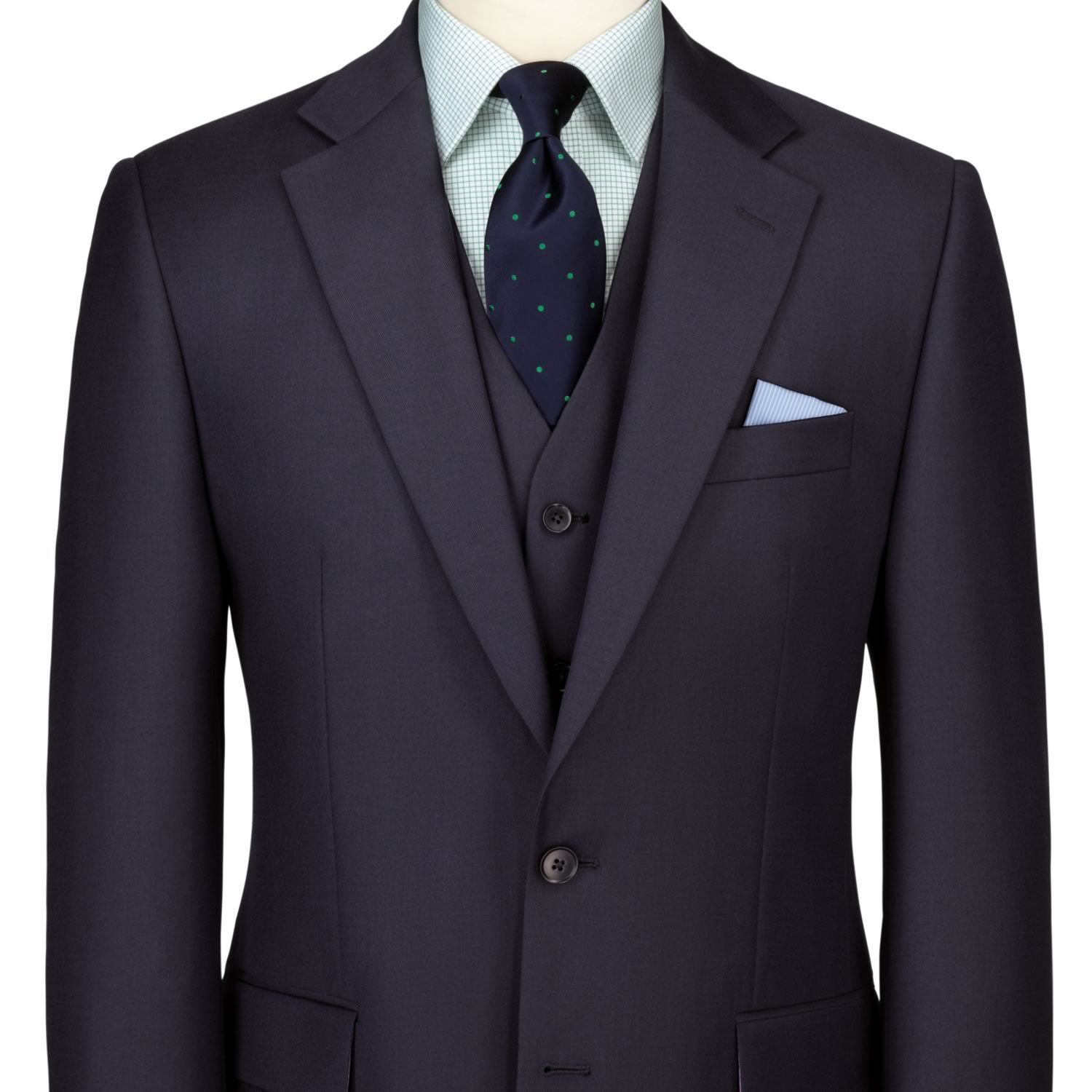 Navy twill classic fit suit | Men's business suits from ...