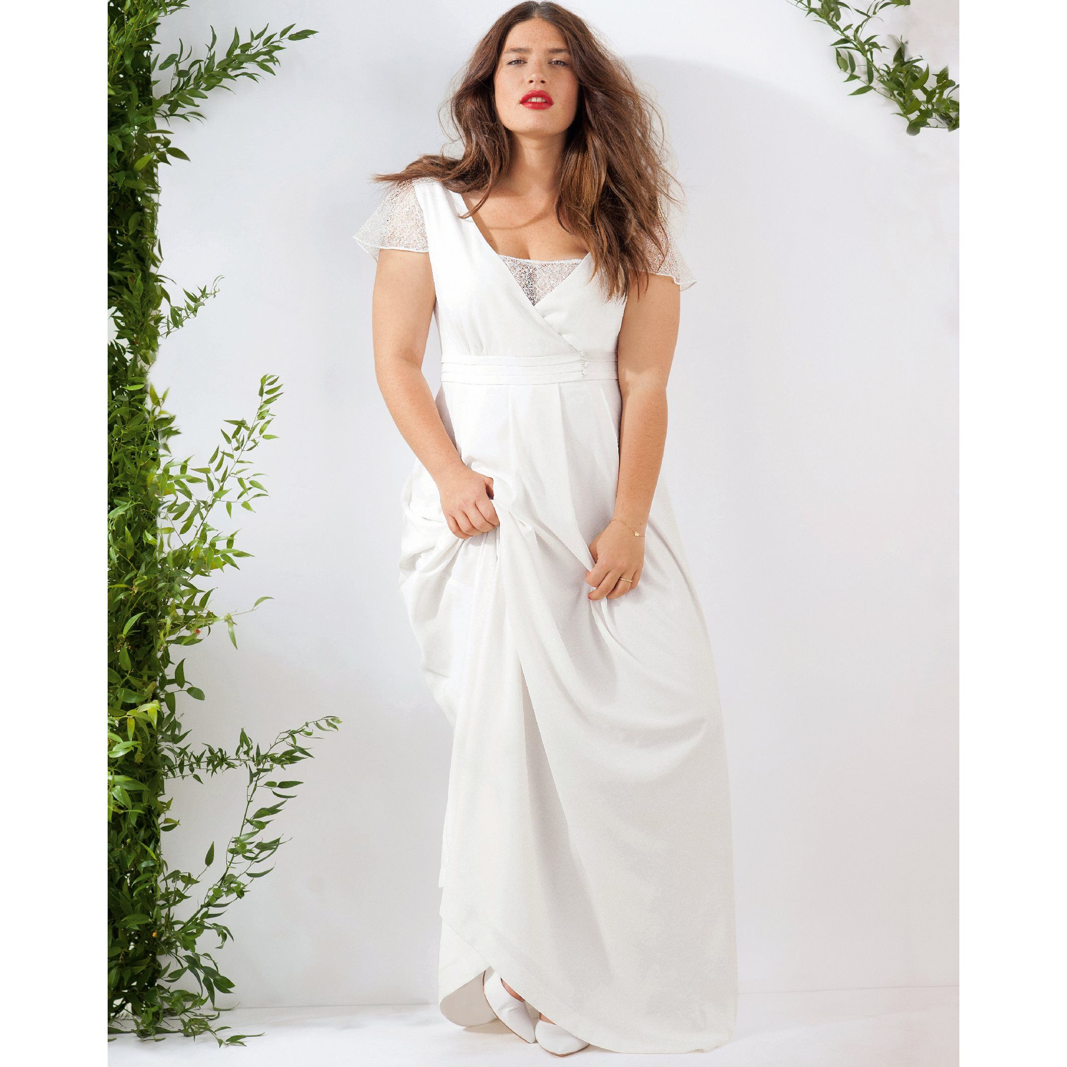 82f9d4f7a1 Vestido largo de boda marfil Castaluna