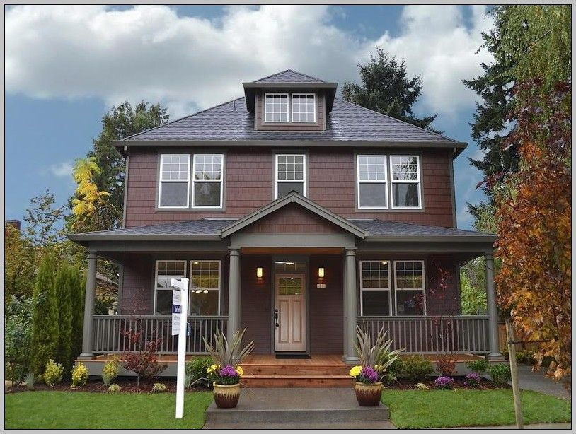 Exterior color schemes for houses with brown roof exterior home colors pinterest exterior Brown exterior house paint schemes