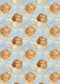 1903 Clapsaddle Cherubs Seamless Tiles & Papers