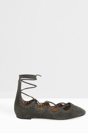 ISABEL MARANT Leoni Lace Up Ballerina. #isabelmarant #shoes #