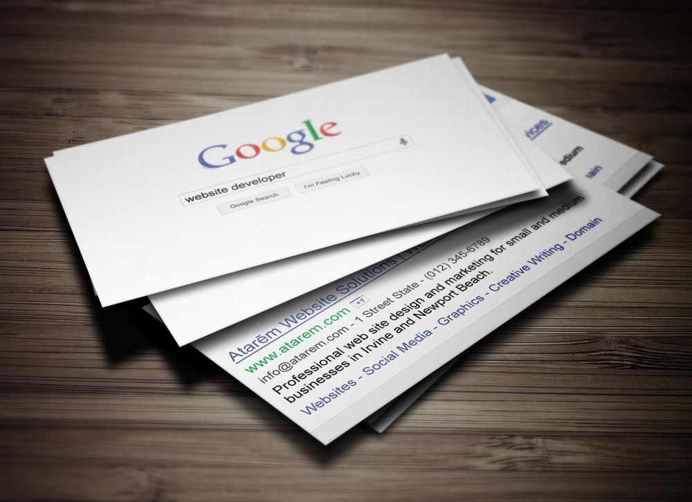 Google Business Card Search Google Search Visitkort Skriva Google