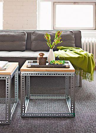 Como fazer uma mesa de metal com estilo moderno for Mesa de centro de metal industrial