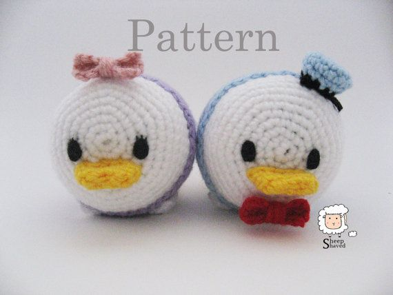 Crochet Donald and Daisy Duck Tsum Tsum Pattern by SheepShaved
