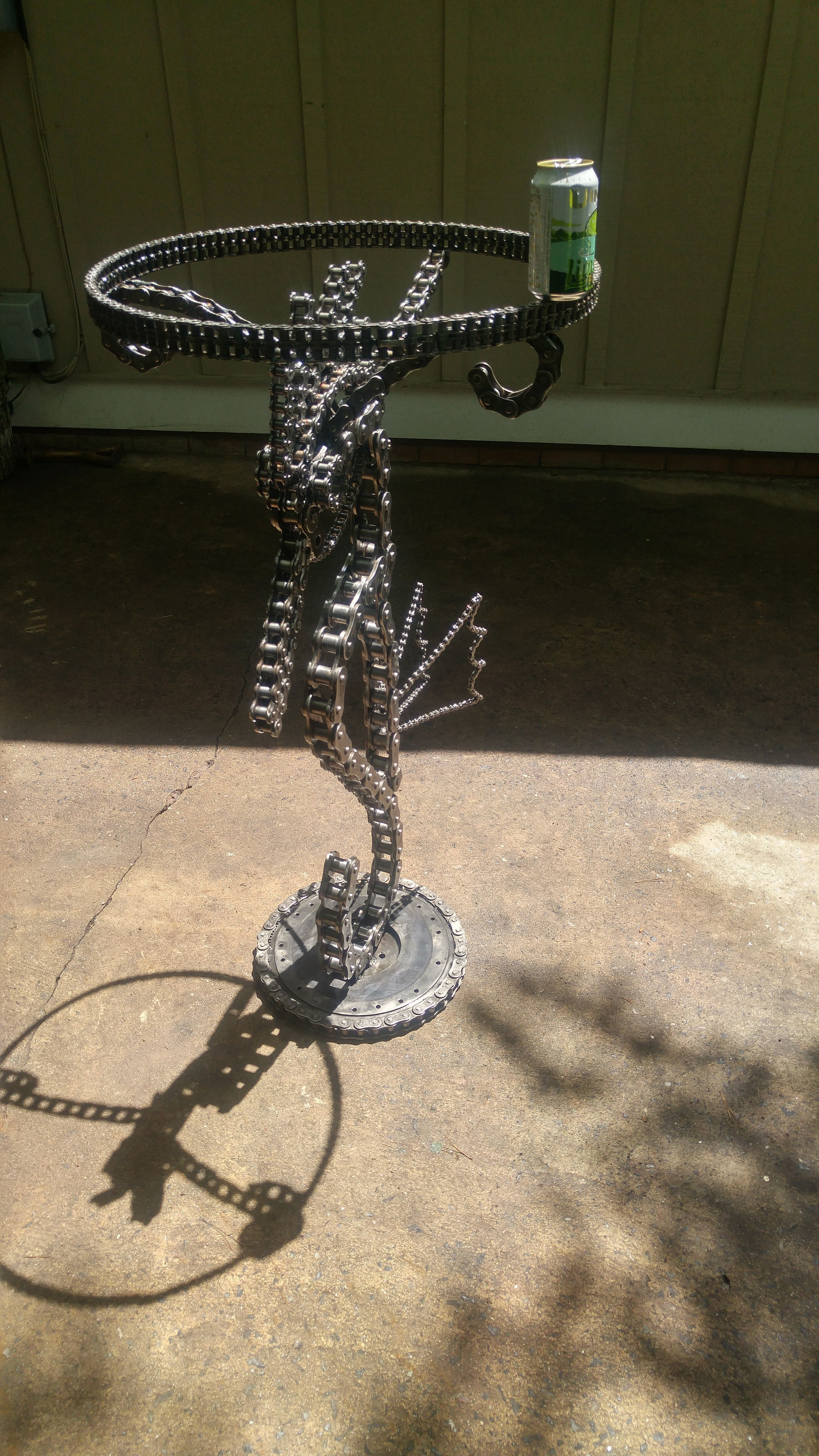 Large Seahorse chain bar table I made. Stands 46.5\