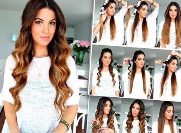 Frisuren Fã¼R Lockiges Haar Zum Nachmachen | Brautjungfern Frisur Ideen Romantisches Outfit Lassig Lockige Haare