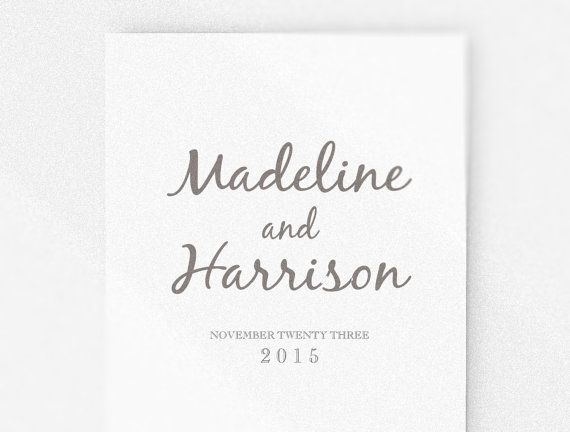 This Elegant Design Wedding Program Simple But Elegant Is Perfect