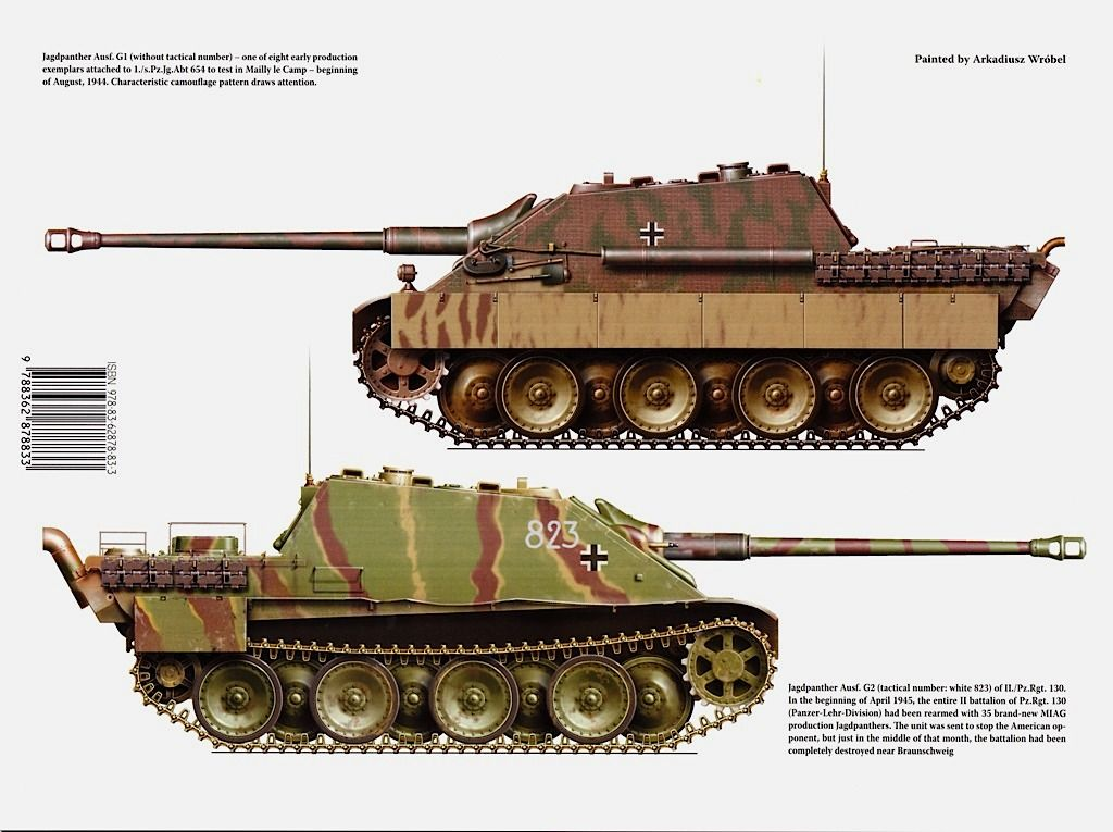 jagdpanther 1945 (With images)   Wwii vehicles. Tank destroyer. Military armor