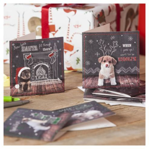 Cute Puppy Christmas Cards, 20 pack