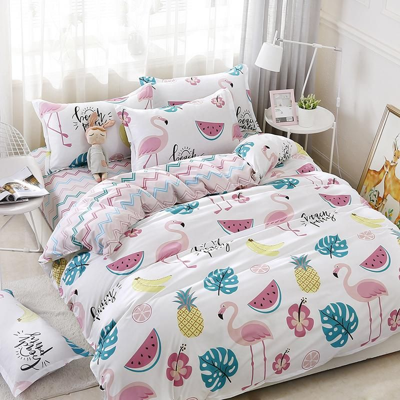 tropical flamingo pineapple beach party duvet cover. Black Bedroom Furniture Sets. Home Design Ideas