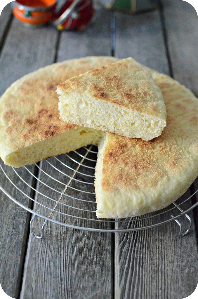 Pain la po le matlouh batbout pain la semoule - Cuisson magret a la poele ...