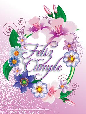 Nuevas postales de cumpleaños con flores y mensajes gratuitos | Banco de Imágenes Gratis