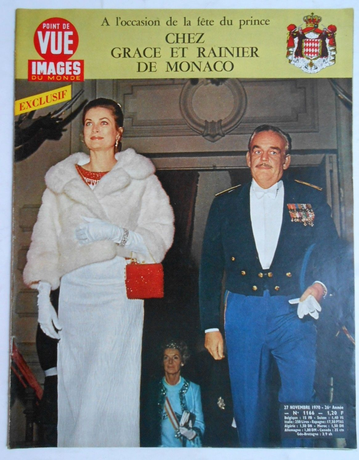 Graceandfamily Point De Vue Images Du Monde N 1166 1970 The Princely Family Revistas Precioso