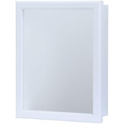 Glacier Bay 15 1 4 In W X 19 1 4 In H X 5 In D Framed Recessed Or Surface Mount Bathroom Medicine Cabinet In White S1620 12 R B Surface Mount Medicine Cabinet