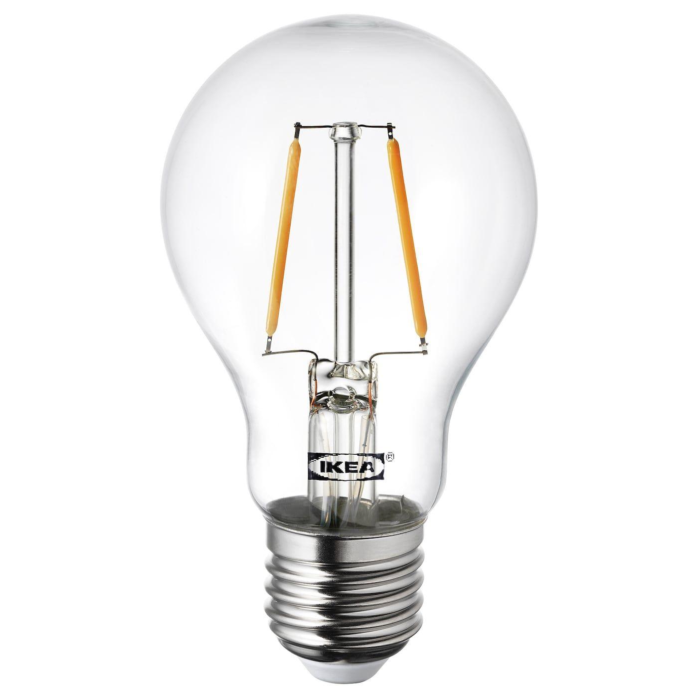 LUNNOM globe clear, LED bulb E27 100