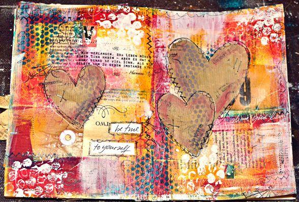 Mixed Media Art Work Mittwochsinspiration 7 Art Journaling