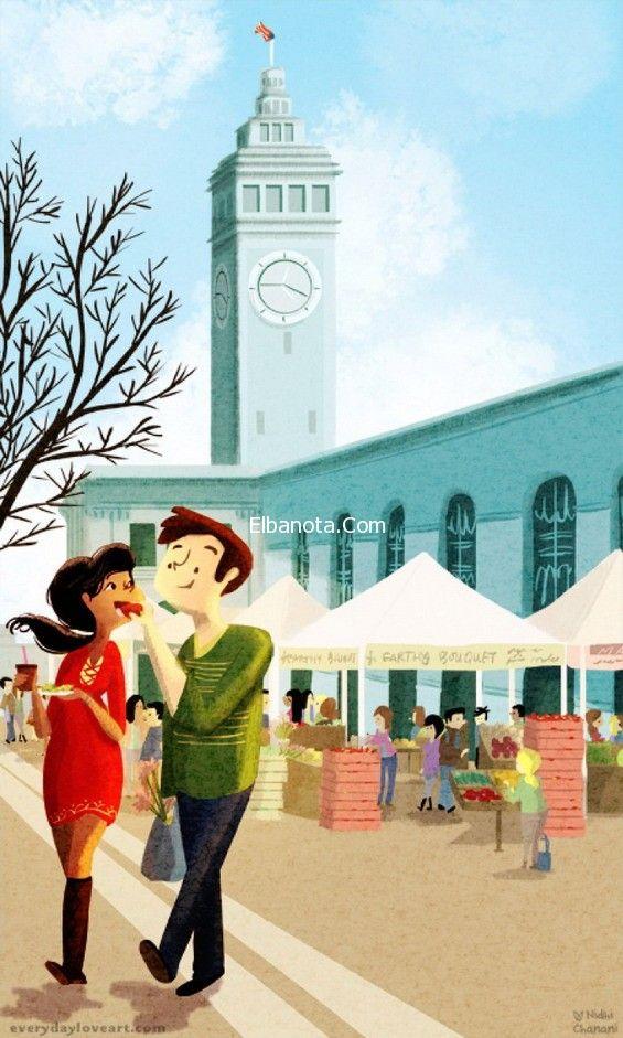 رسومات مذهلة تعبر عن الحب الحقيقي بين الأزواج قام الفنان المبدع Nidhi Chanani من سان فرانسيسكو بطرح رسومات تع Nidhi Chanani Illustration Love Illustration