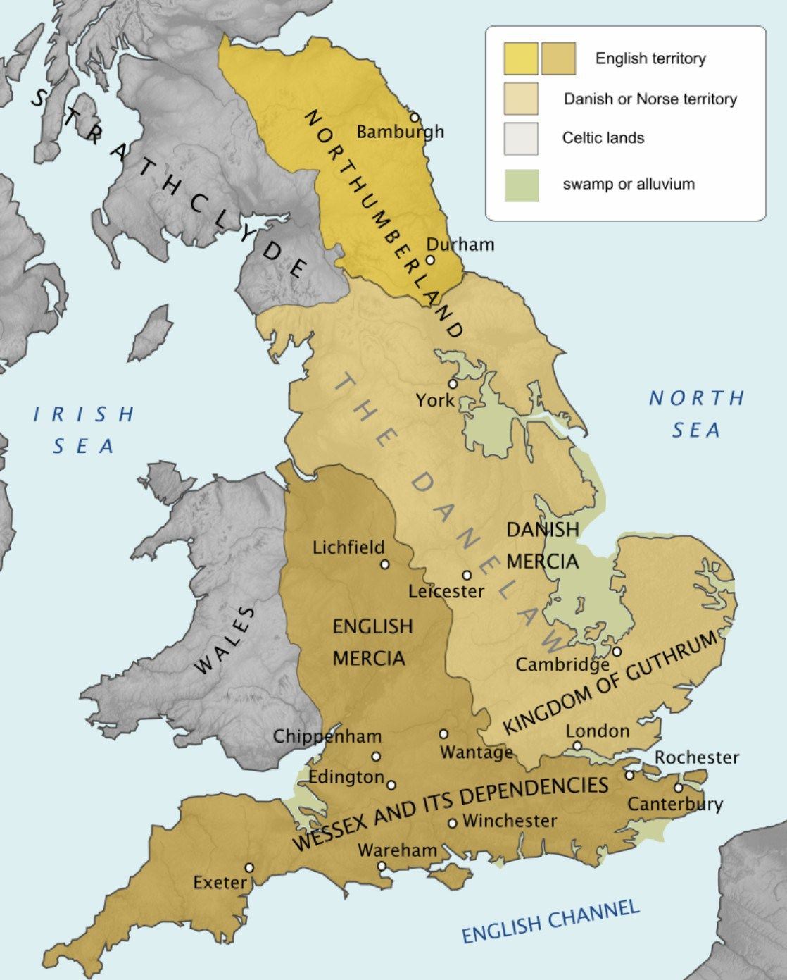 A Map Of Danelaw In Circa 878 Image Source
