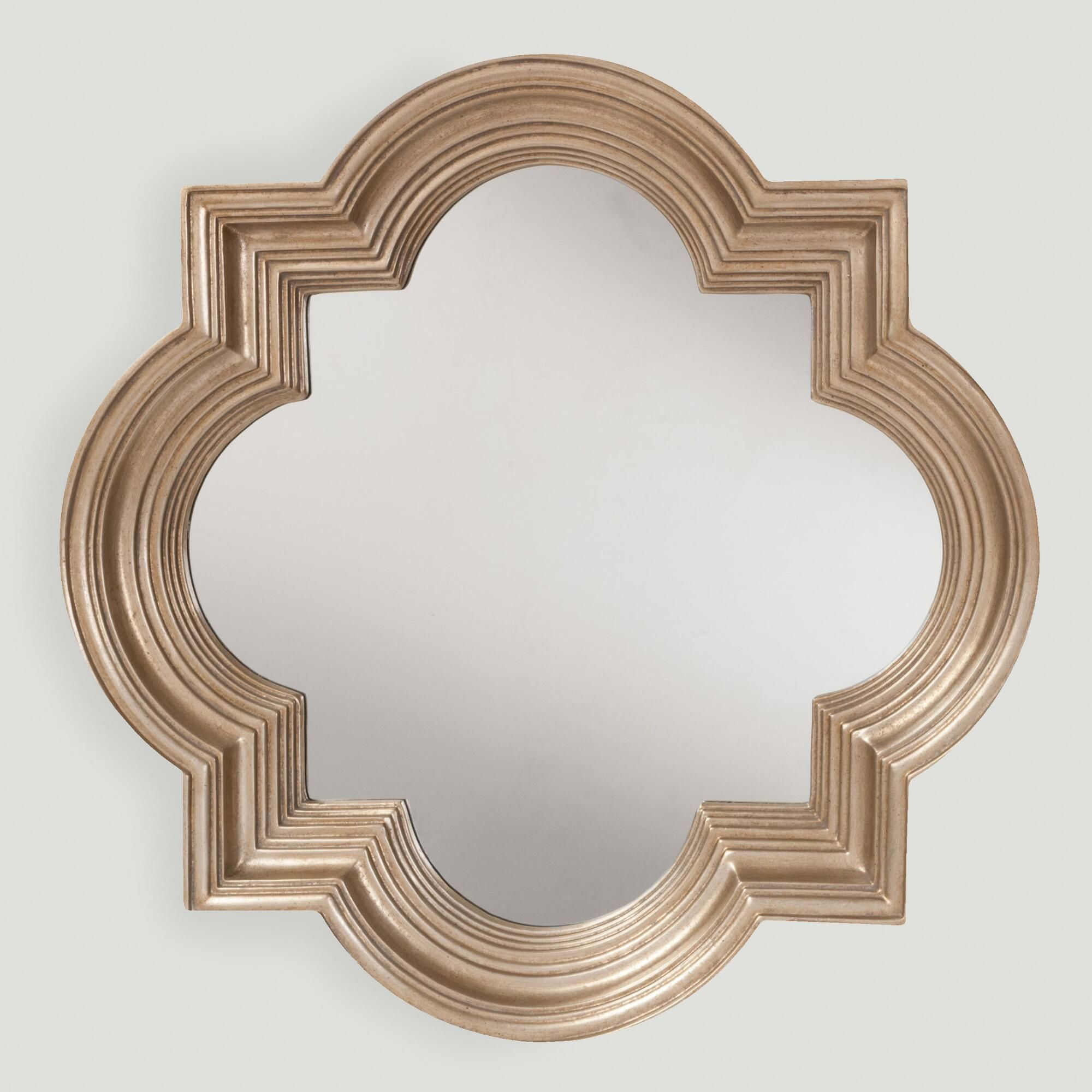 Bordered by a platinum gold frame, our mirror exudes traditional ...