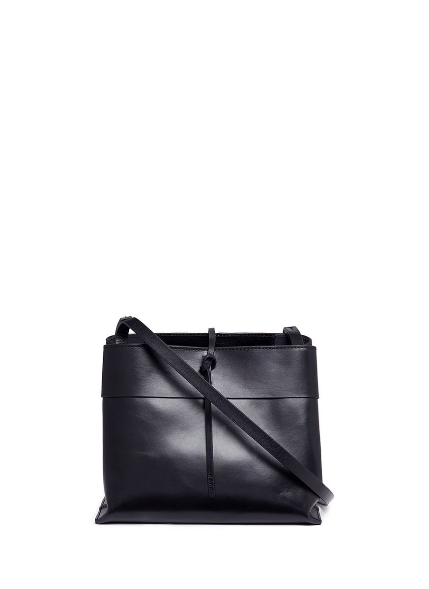 KARA 'Tie Crossbody' Leather Bag. #kara #bags #shoulder bags #leather #crossbody #