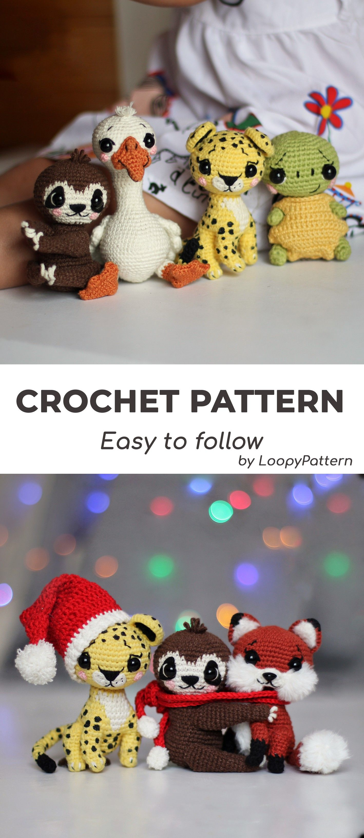 AMIGURUMI pattern crochet toys by LoopyPattern #stuffedtoyspatterns