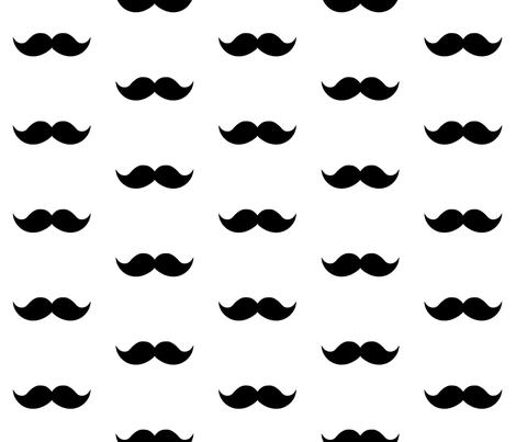 black mustaches fabric by tupelo_honey_fabrics on Spoonflower - custom fabric