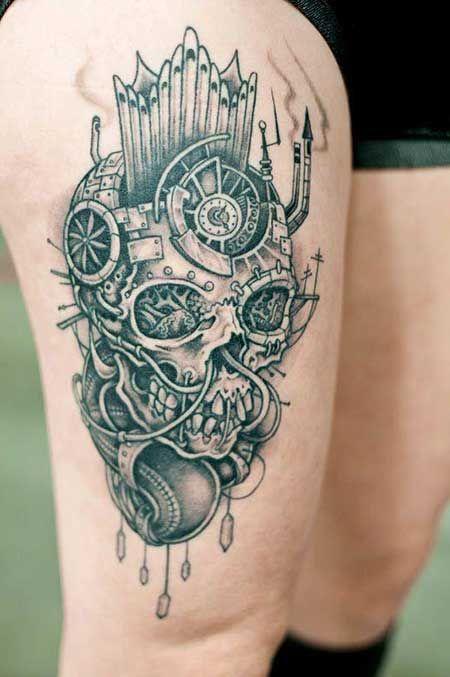 50 Fotos de Tatuagens na Perna Masculinas e Femininas ...