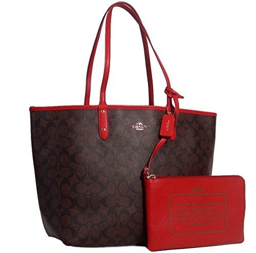 c303c0b9 Coach Signature Reversible PVC City Large Tote Bag Handbag Brown ...