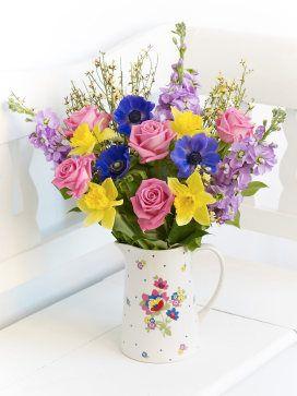 Scented springtime ceramic jug interflora wedding pinterest scented springtime ceramic jug interflora mightylinksfo