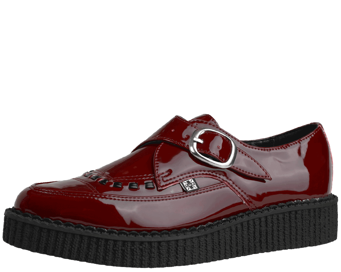 TUK Pointed Toe Creeper - Zapatillas unisex, Black/Monk Buckle, 41