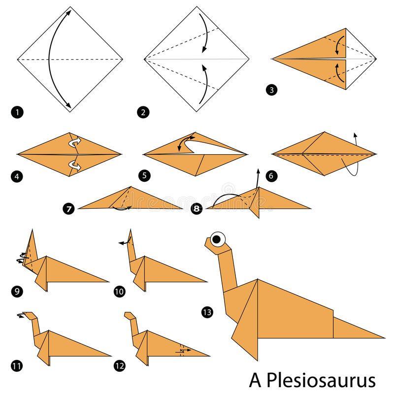 Origami T-Rex - Video and Diagrams - Jo Nakashima | 800x800