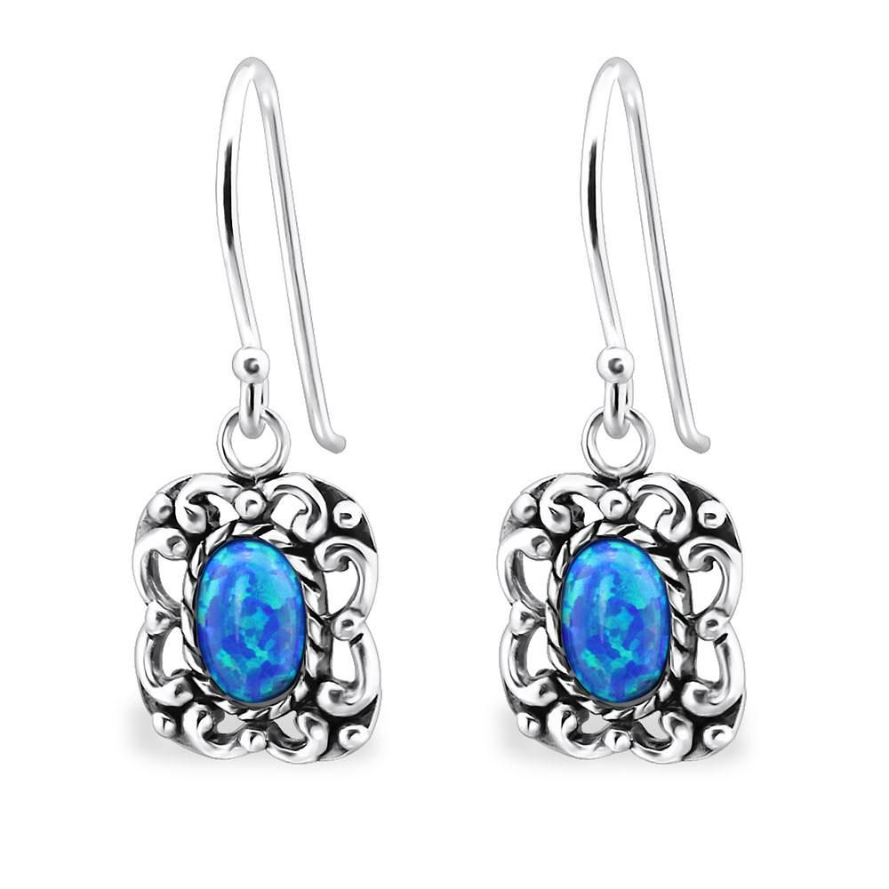 d62363808 Sterling Silver Pacific Blue Opal Drop Earrings #sterling #earrings #rings  #silver #
